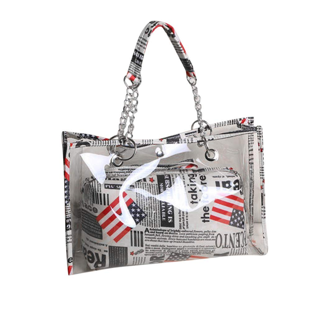 ZOMUSAR Women Bags Women's Fashion Shoulder Handbags Large Capacity Totes Transparent Jelly Bags Gray by ZOMUSAR