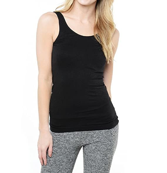 cae7cd0815 Coobie Women s Wide Strap Camisole One Size Style 1240 (Black) at ...