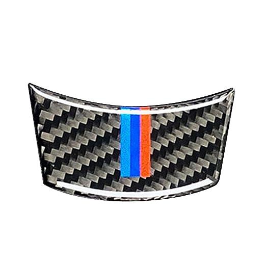 fgyhtyjuu Para BMW Serie 5 E60 2004-2010 Fibra de Carbono M-Raya Volante del Coche Ajuste de la Cubierta Interior de la decoraci/ón de la Etiqueta de Accesorios