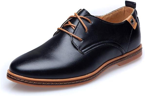 XIGUAFR Chaussure a Lacet de Marche de la Ville pour Homme  h60g6
