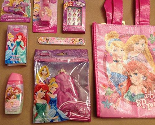 Bundle - 16 Items: Disney Princess Gift Filled Tote Bag