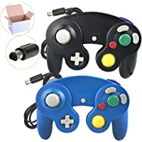 Poulep NGC Wired Controller for Wii Gamecube (Black and Bule3)