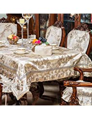 European Style Rectangular Table Cloth Cushion And Chair Covers Luxury Round Tablecloth B 90x90cm 35x35inch