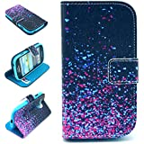 Angelina(TM) Galaxy Style Luxury New Arrival Wallet Design Flip Leather Pouch Cover Case for Samsung Galaxy S3 MINI i8190