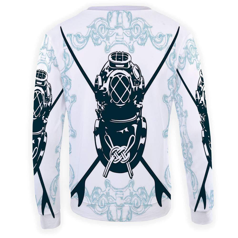 MOOCOM Unisex Surf Sweatshirts Crewneck