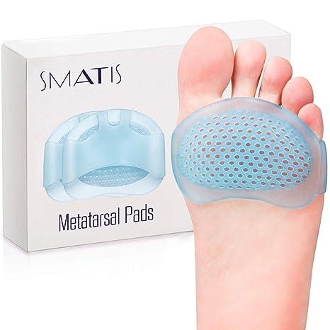 Almohadillas metatarsianas para mujeres y hombres, 4 almohadillas de pie para zapatos para Metatarsalgia Neuroma Mortons Neuroma Pads para aliviar el ...