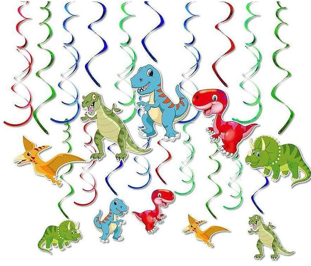 mity rain 30 ct dinosaur hanging swirl party decorations jurassic