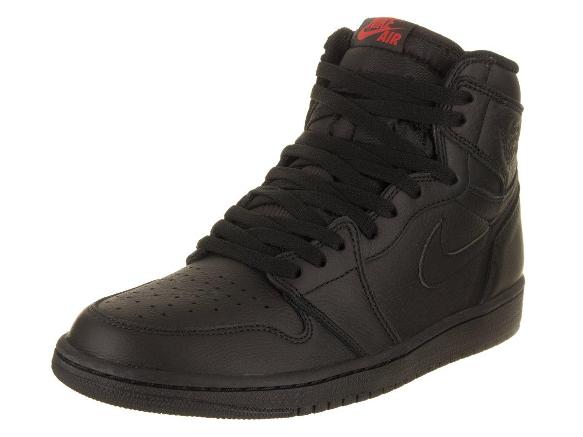 Nike Herren Air Jordan 1 Retro High OG Gymnastikschuhe, Schwarz, Divers  44 EU|Schwarz (Black/University Red)