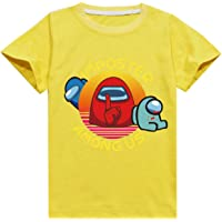 Among Us - Camiseta de Manga Corta para niños, diseño de Camiseta de Manga Corta Unisex Camiseta Estampada Hombre…