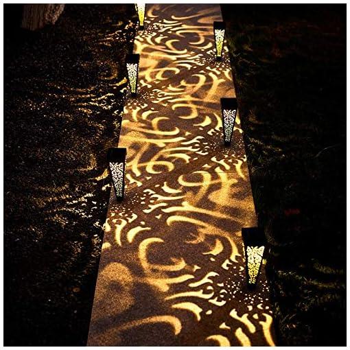 Garden and Outdoor 6Pcs Solar Pathway Garden Lights Outdoor Decorative Stakes, Waterproof LED Landscape Lighting for Lawn, Walkway, Patio… outdoor lighting