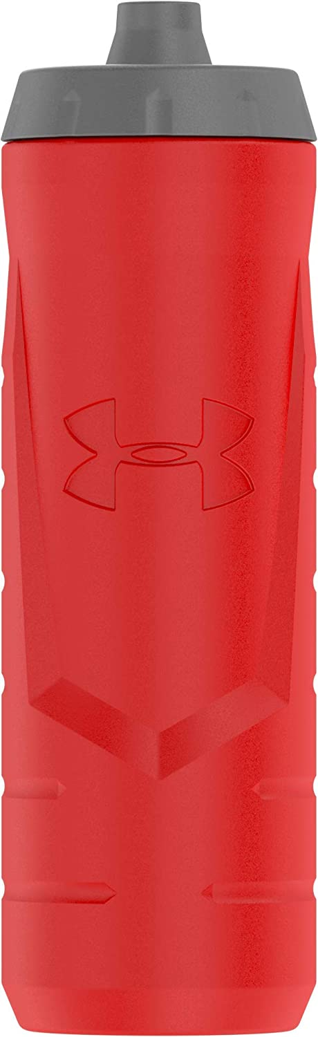 Under Armour Sideline 32 Ounce Squeezable Bottle, Red