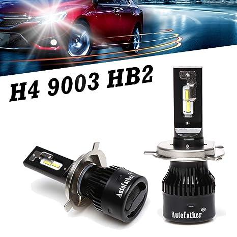 Amazon Com H4 9003 Hb2 Led Headlights Bulbs High Low Beam