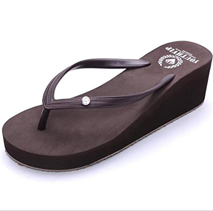 9be0fe8a83e57 Amazon.com: SHANGXIAN Women'S Sandals Wedge Flip Flop Pool Beach ...
