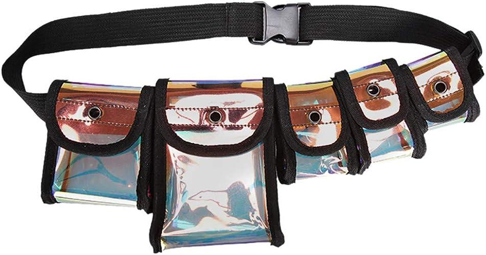 Mujeres Bolso De La Cintura Bolso de la Cintura Verano Pvc ver a través de Fanny Pack de moda de viaje
