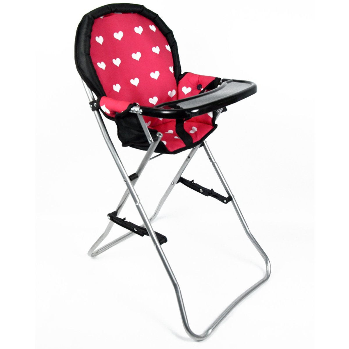 The New York Doll Collection A166 18'' Doll High Chair, Pink by The New York Doll Collection