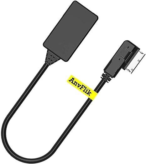 Anvflik Bluetooth Adapter Ami Mdi Mmi Audio Musik Interface Bluetooth 5 0 Adapter Nur Für Audi Mmi 3g 3g System Kompatibel Mit Golf Jetta Passat Vw Auto