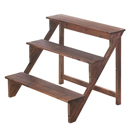 VERDUGO GIFT Wooden Steps Plant Stand