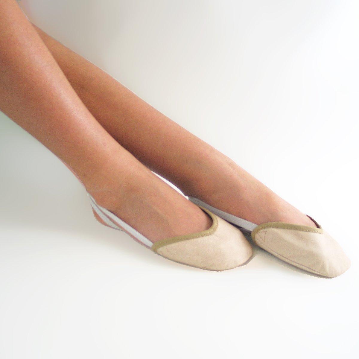 Grouptap Toutes Les Chaussures en Cuir Demi Pied Pied enveloppeur Pad pour Fille lyrique Ballet Moderne Danse et Gymnastique Rythmique