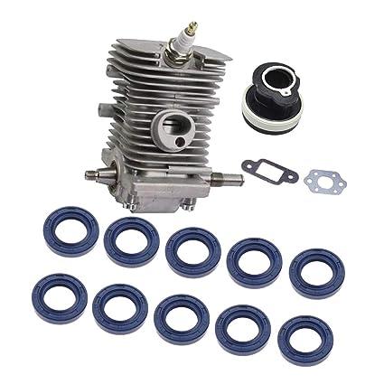 Engine Motor Cylinder Crankshaft Pan+20Pcs Chainsaw Crank Oil Seal