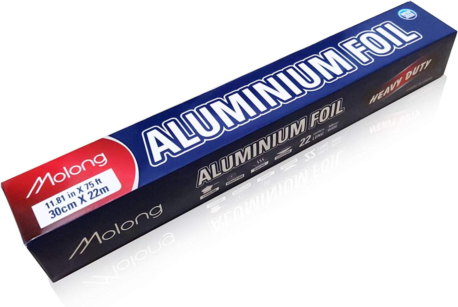 Aluminum foil roll 75 Feet Long Heavy Duty Food Foil Wrap for Grilling,Baking, Roasting, Catering with Nonstick Trait