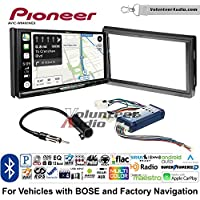 Volunteer Audio Pioneer AVIC-W8400NEX Double Din Radio Install Kit with Navigation, Apple CarPlay and Android Auto Fits 2005-2006 Nissan Altima (With Bose)
