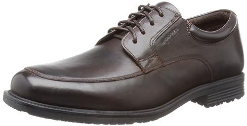 Adidas - Zapatillas de cuero para hombre, color negro, talla 42.5