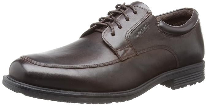 RockportEssential Details II Plain Toe - Zapatos Planos con Cordones Hombre, Color Negro, Talla 43
