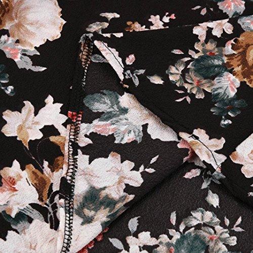 Fleur D'été Des Femmes Digood De Vacances Imprimer Bohême Manches Courtes Balançoire Robe Longue