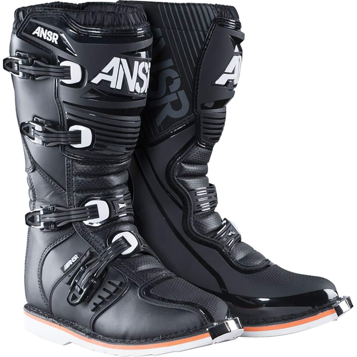 Answer 2018 AR-1 Race Boots (8) (BLACK)