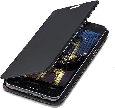 kwmobile Funda Compatible con Samsung Galaxy J5 (2015) - Carcasa con Tapa Tipo Libro - Case Protector en Negro: Amazon.es: Electrónica