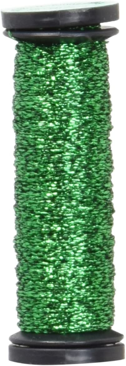 Kreinik No.4 Very Fine Metallic Craft Braid Green Hi Lustre 12-Yard