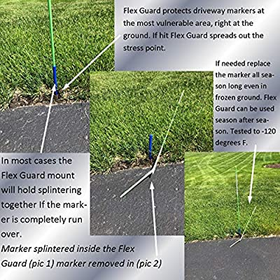 """Keyfit Tools FLEX GUARD Driveway Marker Mount (16 Pack) Reinforced Protective Sleeve Fits Over All Standard 5/16"""" Markers -By Far The Best Way To Set Driveway Plow Poles Reflectors Stakes Curb Markers: Automotive"""