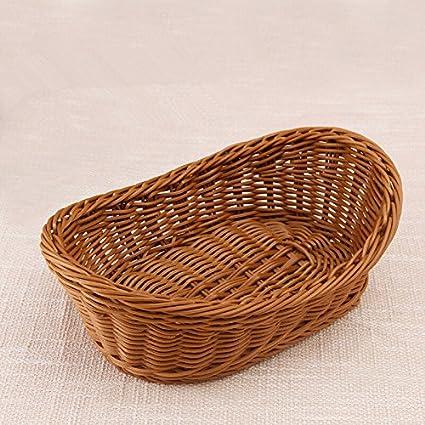 Kx La Emulación cesta de mimbre cesta de frutas caja de Pan