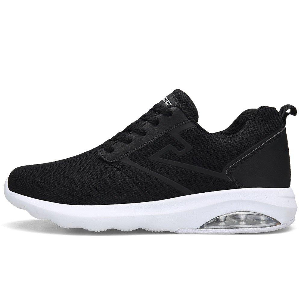 Pscownlg Men Running Shoes Air Cushion Lightweight Mens Sneakers Walking Shoes (11, Black)