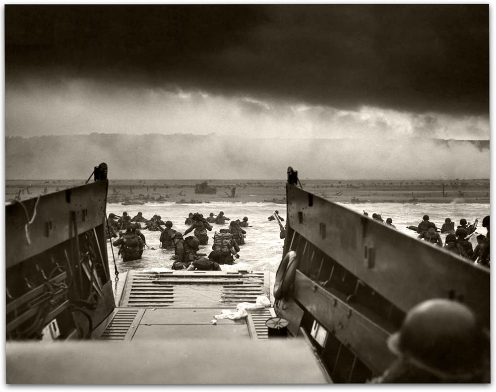 Lone Star Art Into the Jaws of Death - D-Day (1944) Vintage - 11x14 Unframed Print - Perfect Vintage Home Decor Or Gift for Veterans