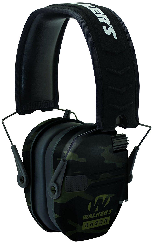 Walker's Game Ear Walker's Razor Slim Electronic Muff Multicam Camo - Grey