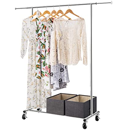 Amazon.com: LANGRIA Heavy Duty Garment Rack Commercial Grade