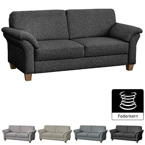 Cavadore 3 Sitzer Byrum Im Landhausstil Großes Sofa Mit Federkern Landhaus Garnitur 186 X 87 X 88 Grau