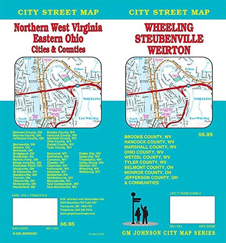(Wheeling WV / Weirton WV / Steubenville OH / Northern WV, West Virginia, Ohio Street Map)