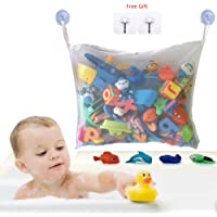 Bath Toy Storage Bath Toy Organiser Mesh Bath Toy Organiser Durable Design + 2 Extra Strong Suction Cups Large Storage/Bag/Holder for Toys Even as a Shower Caddy and Baby Gift Mould Free Playtime