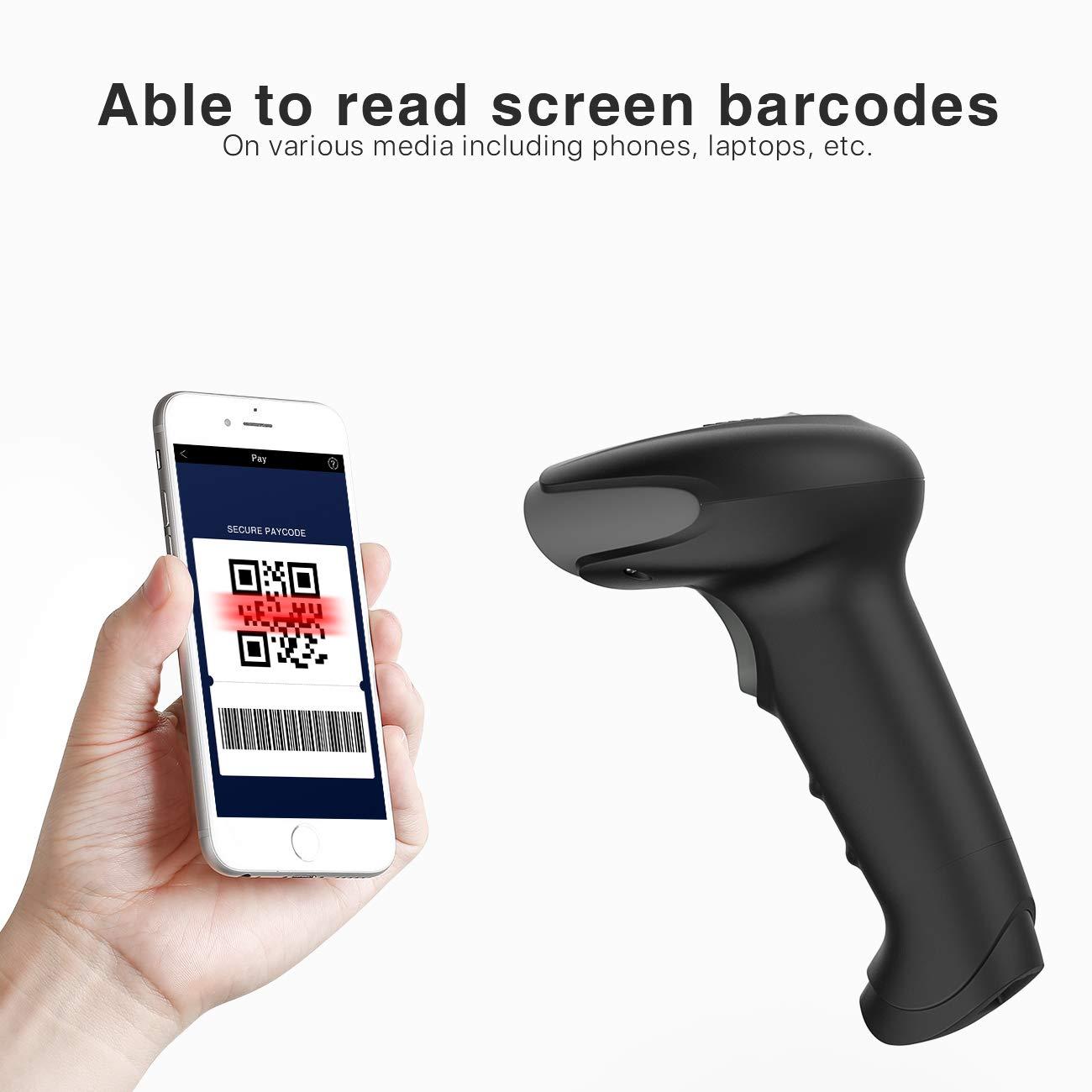 Inateck Lecteur Code-Barres USB Filaire 2D BS02001 Scan sur /Écran