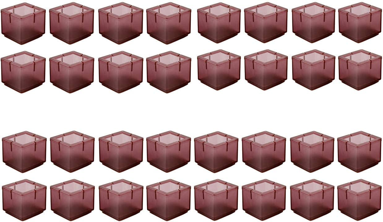 Mogokoyo 32 x Stuhlbeinkappen Silikon Stuhlbein Fu/ßboden Schutz M/öbel Tischabdeckung Furniture Tisch Hocker Bein Covers Pads Protectors f/ür 30-35MM Quadratisch Beine