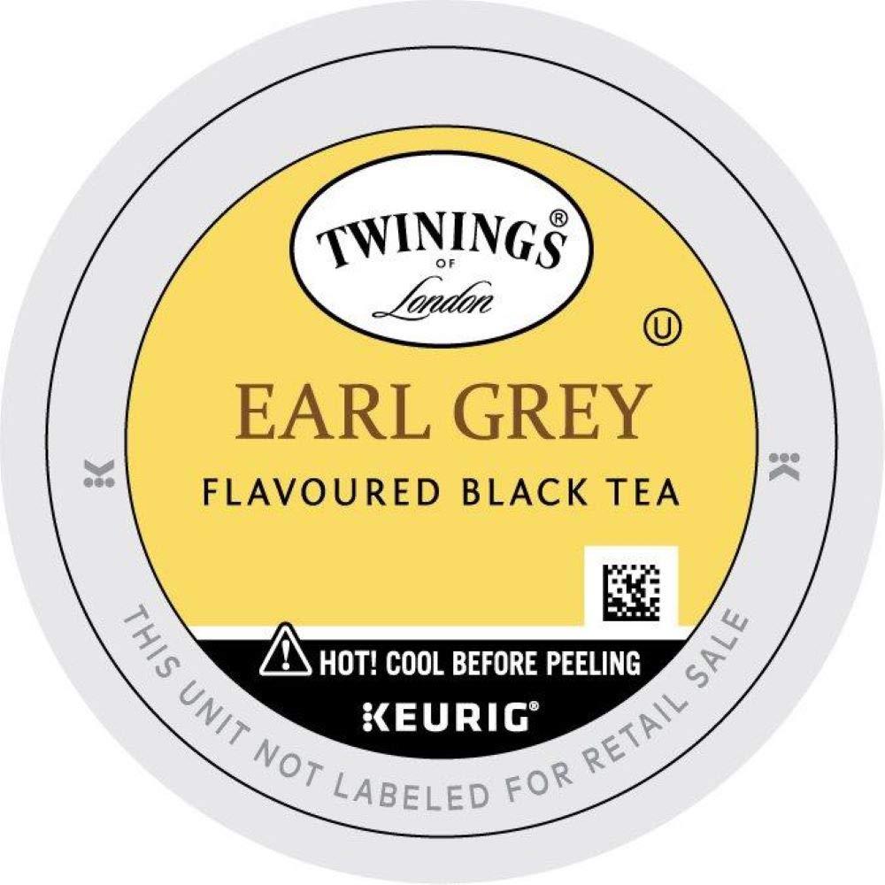 Twinings of London Earl Grey Black Tea K-Cups for Keurig, 12 Count