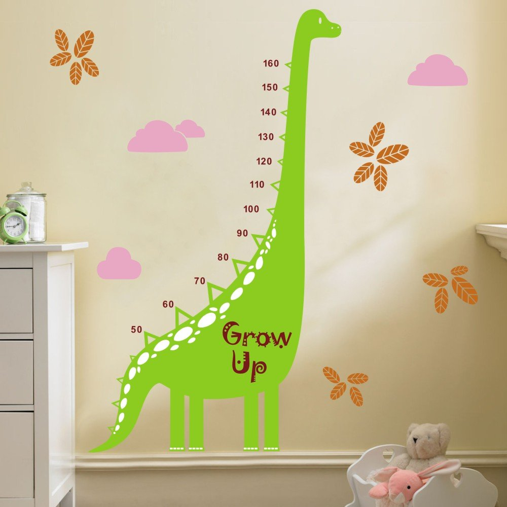 Amazon growth chart decal height chart wall decal vinyl nursery amazon growth chart decal height chart wall decal vinyl nursery wall sticker dinosaur height growth chart great for nursery or kids room geenschuldenfo Image collections