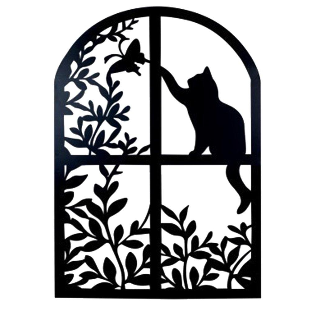 THE WORLD OF ANIMALS Cat hanging panel 83 x 58 cm