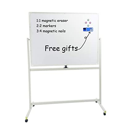 amazon com large mobile 48x36 magnetic white board on wheels with