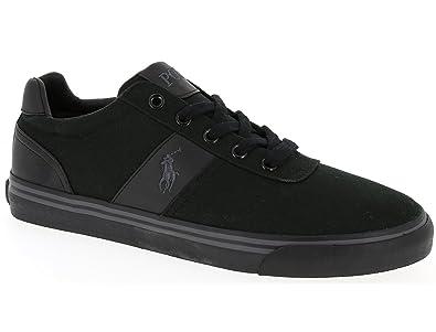 POLO Ralph Lauren - Baskets basses - Homme - Sneakers Hanford Canvas Noir  Mono pour homme 44eb6bdc476