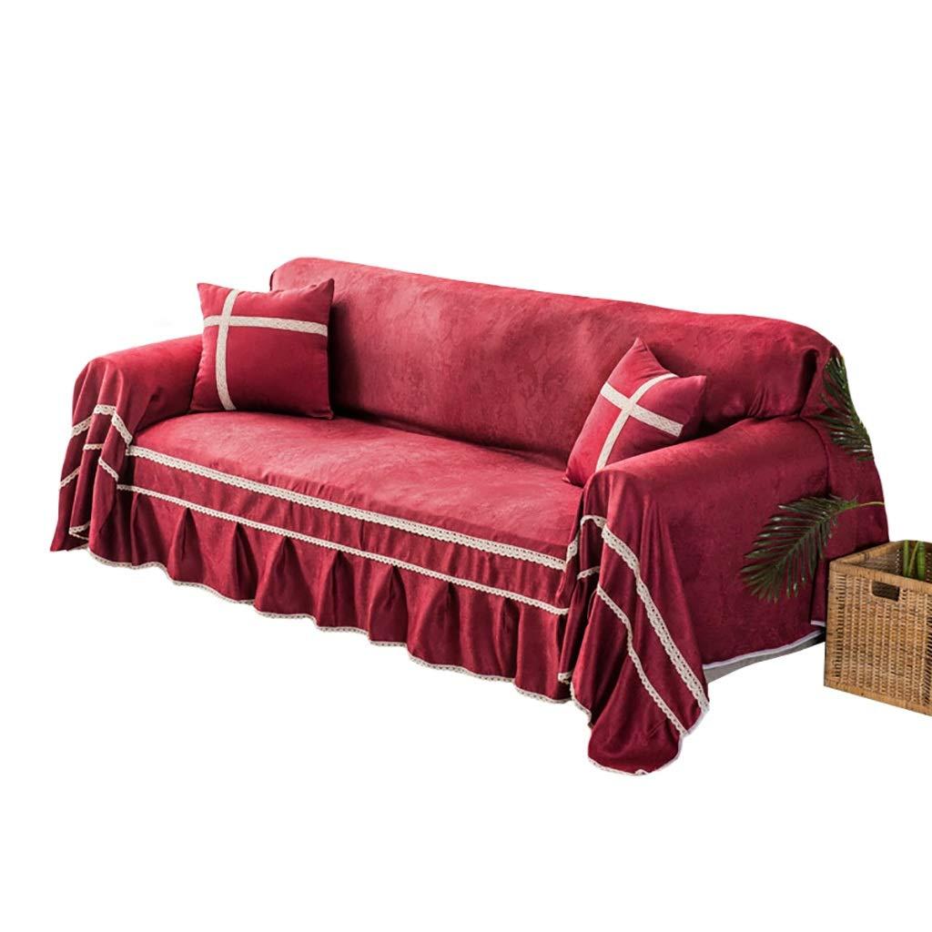ソファカバー ソファータオル四季一般的な味方されたソファー毛布シングルまたはダブルソファーカバーに適した防塵ソファー布 (色 : A, サイズ さいず : 200x260cm) 200x260cm A B07PTB18M9