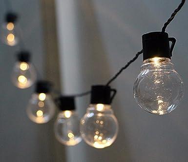 Solar LED Lichterkette Außen Warmweiß mit 10pcs Globe Birnen, KEEDA ...