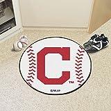 FANMATS - 16912 - FanMats MLB - Cleveland Indians Block-C Baseball Mat 26 diameter